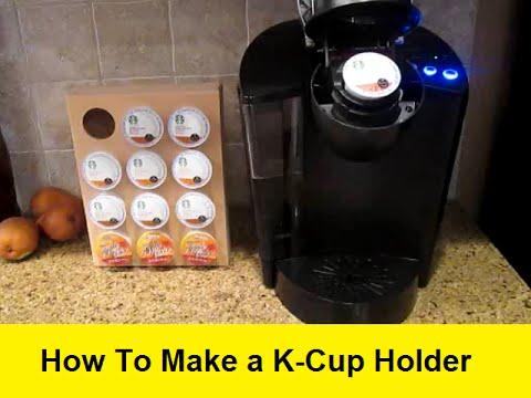 how to make custom k cup holders youtube. Black Bedroom Furniture Sets. Home Design Ideas