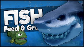 KILLING THE BIGGEST SHARK AT LEVEL 1! (Feed and Grow: Fish)