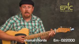 Guitar song lesson learn to play Hello by Adele for guitar chords rhythms beginner intermediate