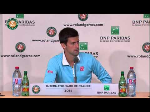 Roland Garros 2014 Tuesday Interview Djokovic