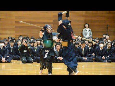 なぎなたVS剣道 琴平高校で10年目の異種武道大会