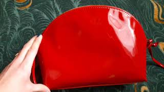 Видео-обзор красной лаковой сумки-клатч от Oriflame