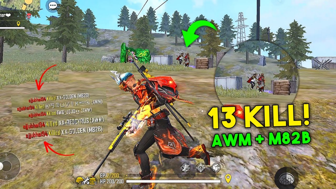 Literally Unbelievable AWM and M82B Next Level Duo vs Squad Gameplay Must Watch - Garena Free Fire