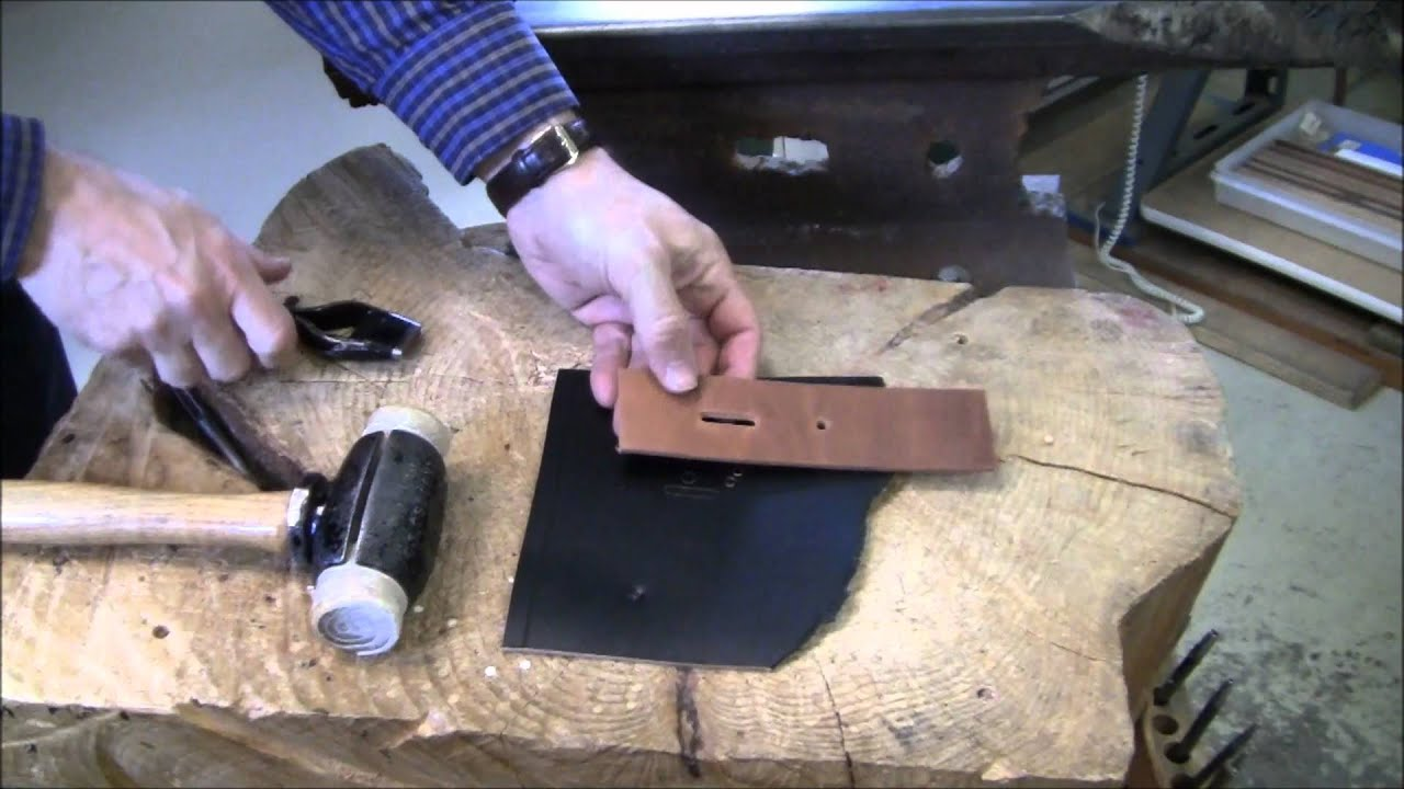 how to punch a hole in leather