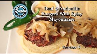 Beef Andouille Burgers
