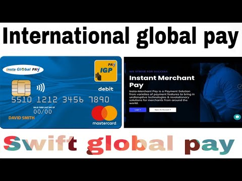 International global pay | swift global pay reciever | insta merchant Pay | Reciever and sender need
