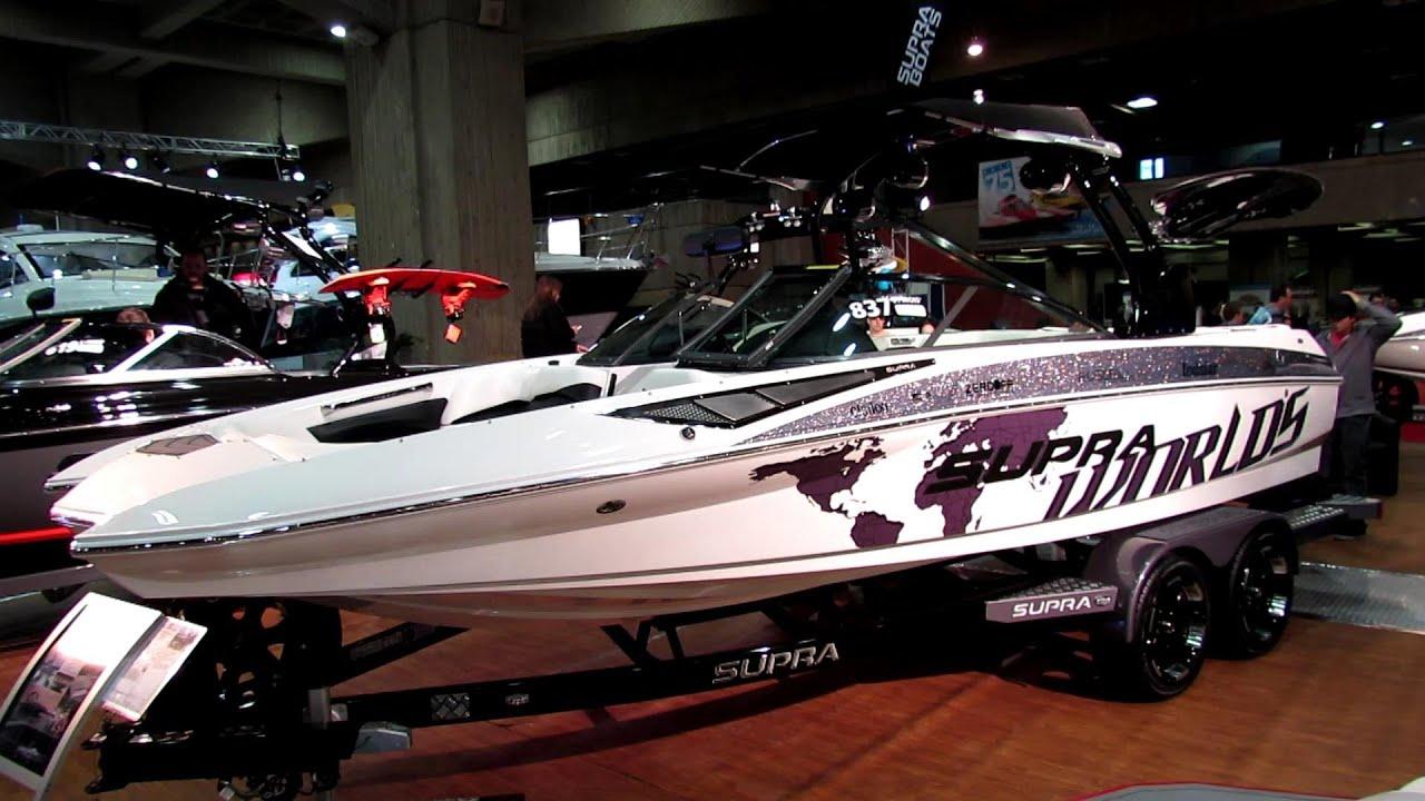 2013 Supra SA550 Motor Boat - Walkaround - 2013 Montreal ...