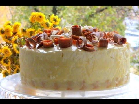 торт творожное чудо с бананом фото рецепт