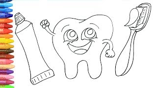Dente Sorridente   Come disegnare e colora per i bambini