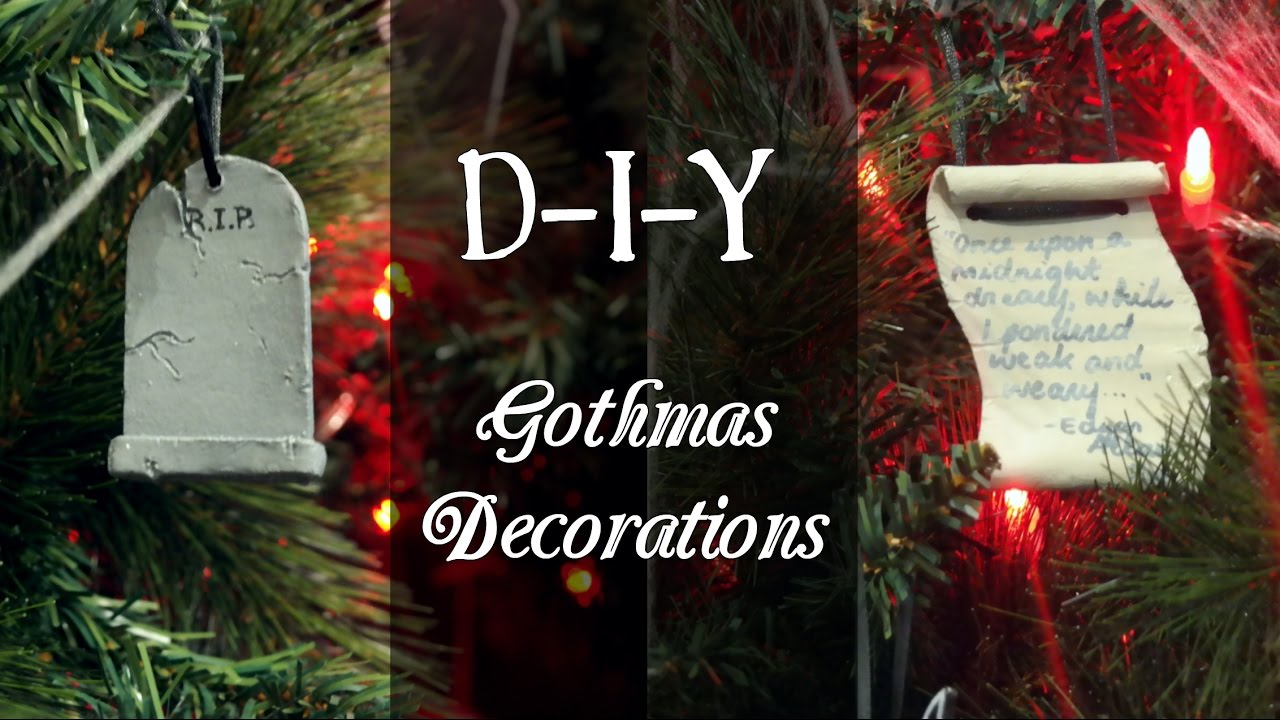 diy gothmas decorations a gothic christmas - Gothic Christmas Decorations