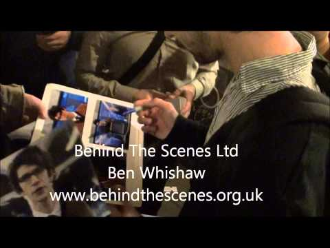 Ben Whishaw signs autographs when leaving the Noel Coward Theatre London on the 7th May 2013