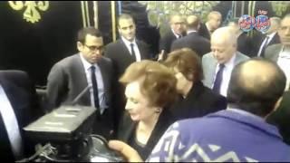 أخبار اليوم | جيهان السادات تقدم واجب العزاء في الراحل  يحيى الجمل