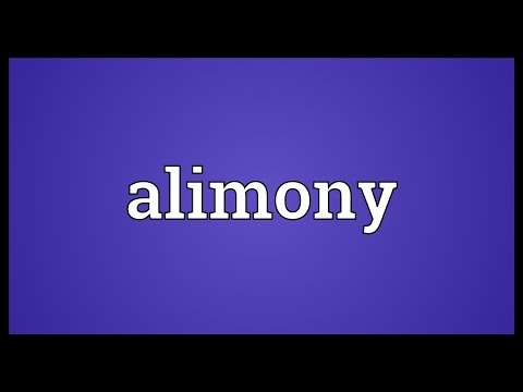 Alimony Meaning