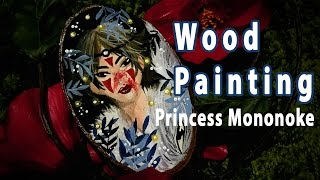 Painting on wood with Gouache! || MONONOKE