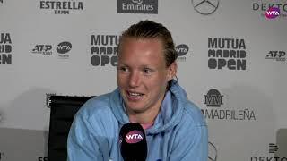 Kiki Bertens blikt vooruit op finale tegen Simona Halep in Madrid