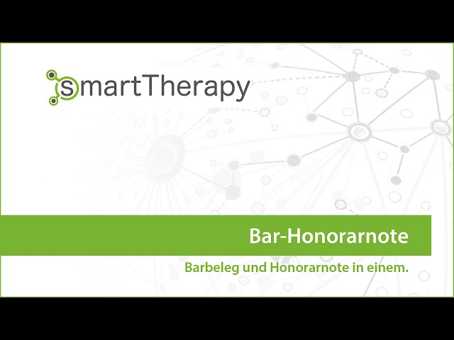smartTherapy: Bar-Honorarnote