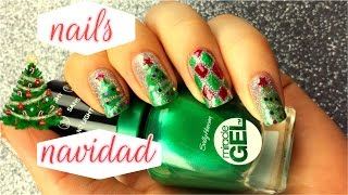 🎄uñas navidenas/ arbol de navidad🎄/christmas tree nails
