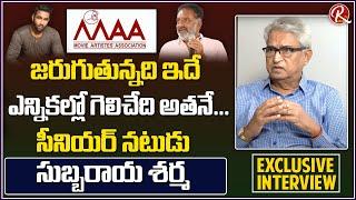 Senior Actor Subbaraya Sharma Exclusive Interview On Maa Elections 2021 | Prakash Raj | RTV Telugu