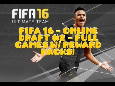 FIFA 16 - ULTIMATE TEAM - FUT ONLINE DRAFT #2 - FULL GAMEPLAY - REWARD PACK OPENING - PS4/XBOX ONE!