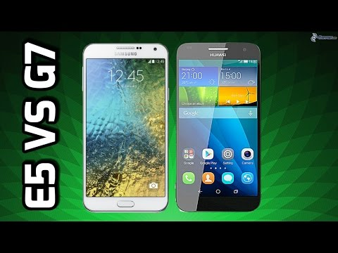 Samsung Galaxy E5 VS Huawei Ascend G7, En español.