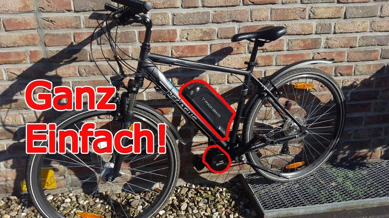 fahrrad selber zu ebike aufr sten youtube. Black Bedroom Furniture Sets. Home Design Ideas
