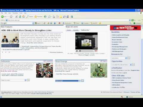 Asia Development Bank Website
