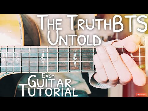 The Truth Untold BTS Guitar Tutorial // The Truth Untold Guitar // Lesson #492