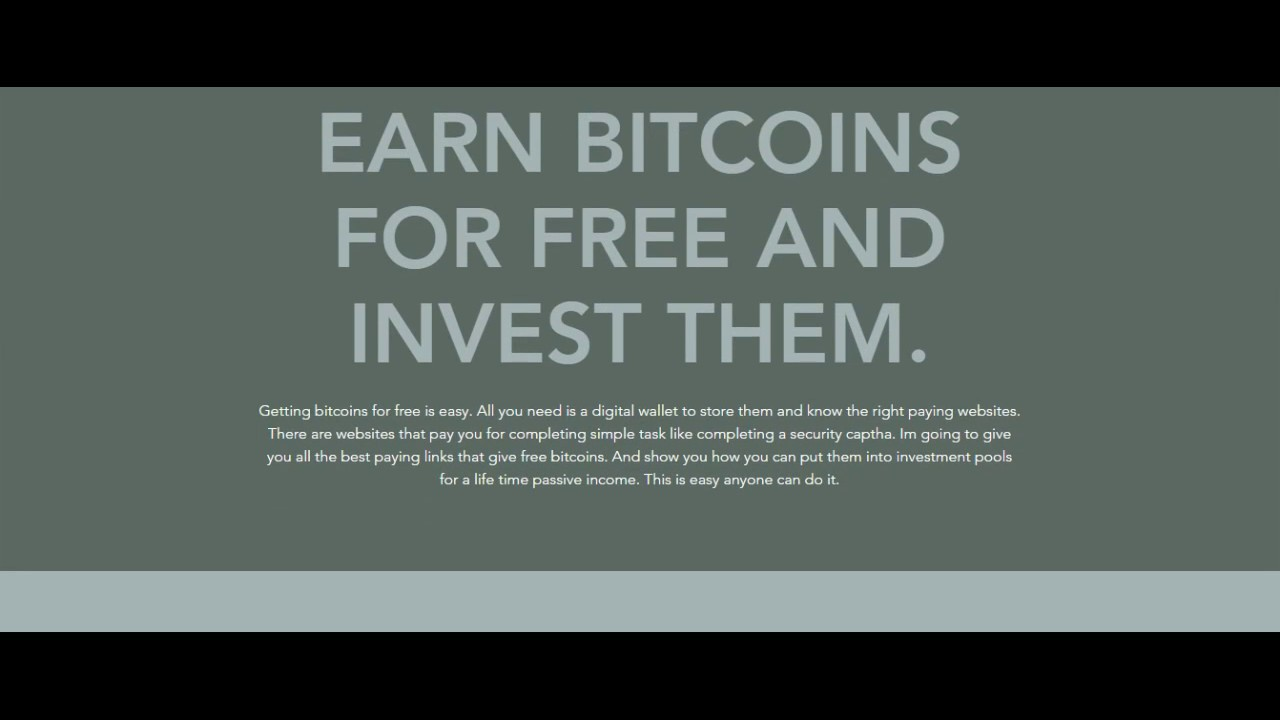 Free Bitcoins For Life: PASSIVE INCOME WITH BITCOINS - YouTube