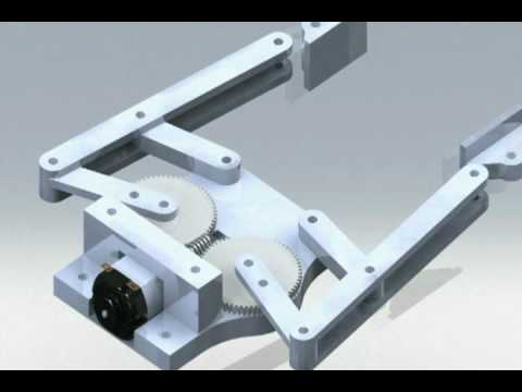 4 Bar Linkage End Effector Robot Gripper Animation Youtube