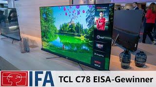TCL C76 4K TV - EISA Preis-Leistungssieger 2018/2019 auf der IFA 2018
