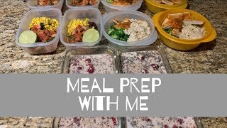 Meal prep with me! Overnight oats, shrimp taco bowls, and chicken sriracha