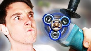 FIDGET SPINNER POWER TOOLS! *hurt myself lol*