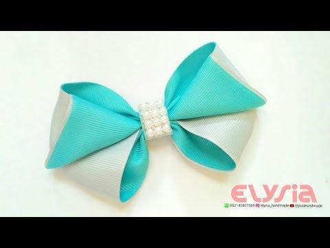 Cute Hair Bow - Ribbon Bow | DIY by Elysia Handmade