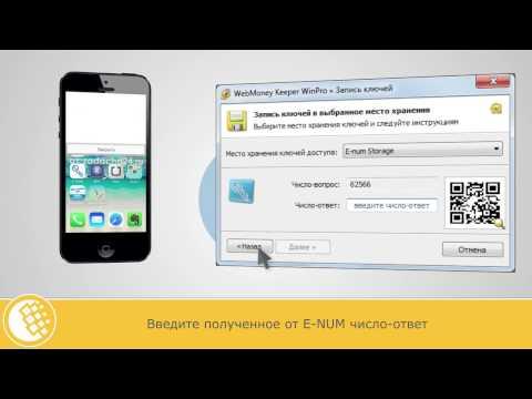 Хранение ключей WebMoney Keeper WinPro — E-NUM Storage