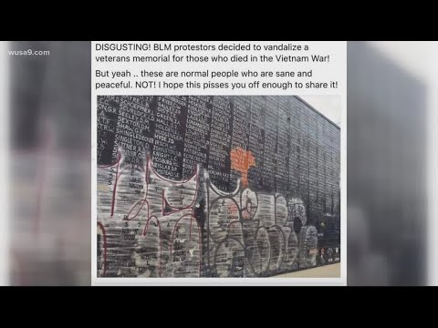 Verify Has The Vietnam Memorial Wall In Washington Dc Been Vandalized Youtube