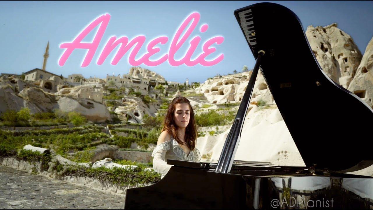 Amelie Comptine d'un autre été on Piano in UNSECO World Heritage Site Cappadocia   AyseDeniz