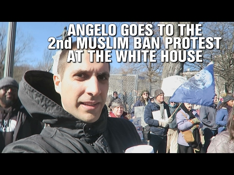 Angelo Goes to the 2nd Muslim Ban Protest at the White House