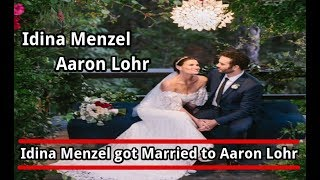 Idina Menzel got married to Aaron Lohr and it was 'Magic'