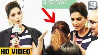 Sonam Kapoor INSULTS Media Reporter For Asking Questions On Deepika Padukone  LehrenTV