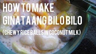 Vegan Filipino: How to Make Ginataang Bilo Bilo (Chewy Rice Balls in Coconut Milk)