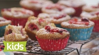 Rhubarb, Raspberry & Coconut Muffin Recipe - As Seen On The Voice Kids