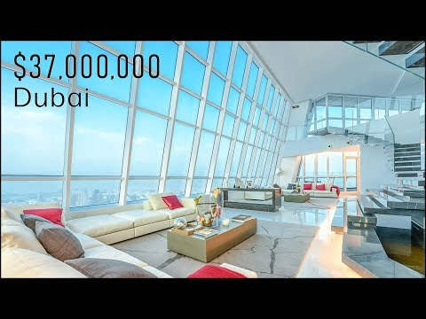 Inside a $37 Million Dubai Penthouse - Dubai Marina