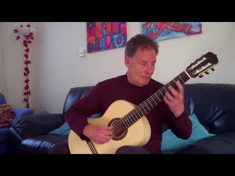 """Paul Gregory plays """"Estrellita"""" by Ponce on a Requena classical guitar"""