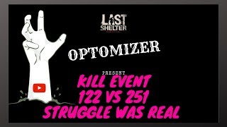 Last Shelter survival Kill event 122 vs 251 and DD states