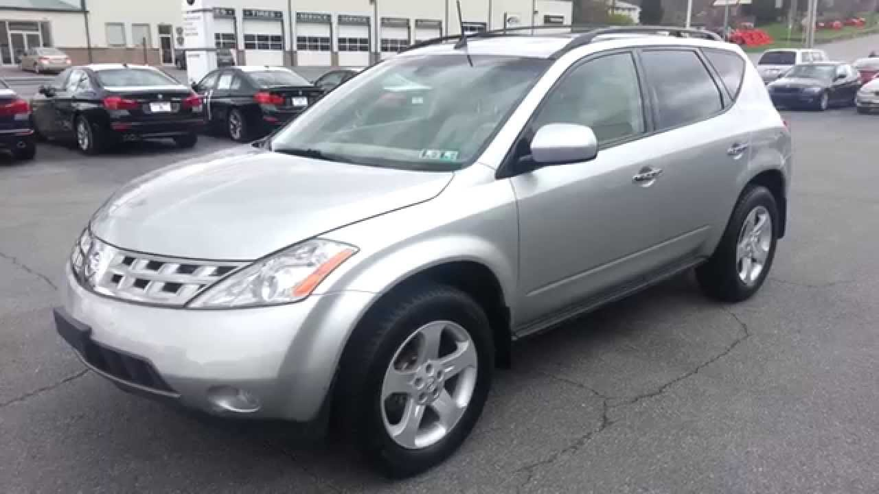 2004 nissan murano sl awd sheer silver - youtube