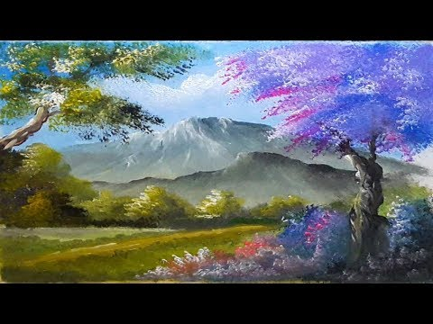 Learn How to Draw Mountain Forest Beautiful | Acrylic Painting Landscape Lesson | Step By Step