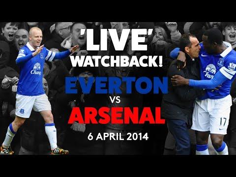'LIVE' FULL GAME: EVERTON 3-0 ARSENAL | 6 APRIL 2014