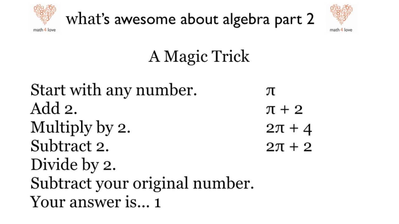 Math Magic Trick | Math for Love