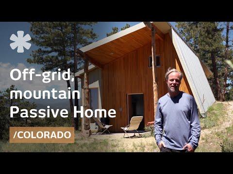 Designer builds efficient off-grid Passive House in Colorado