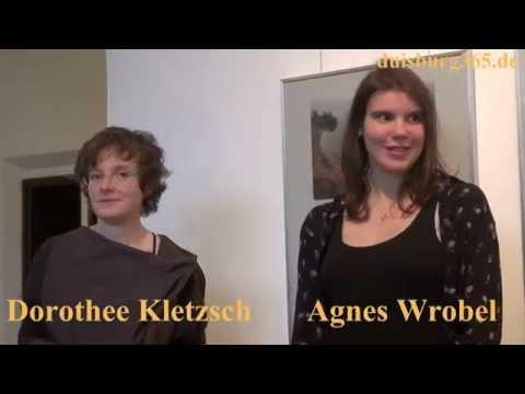 Agnes Wrobel & Dorothee Kletzsch eroeffnen Ausstellung in MKS Duisburg